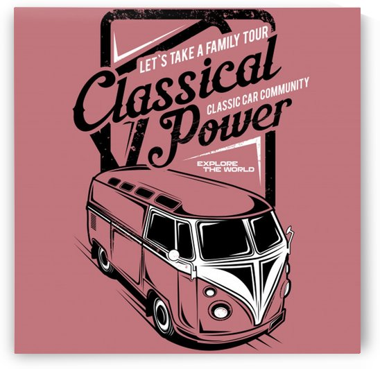 Lets take family tour classical power illustration classic family car by Shamudy