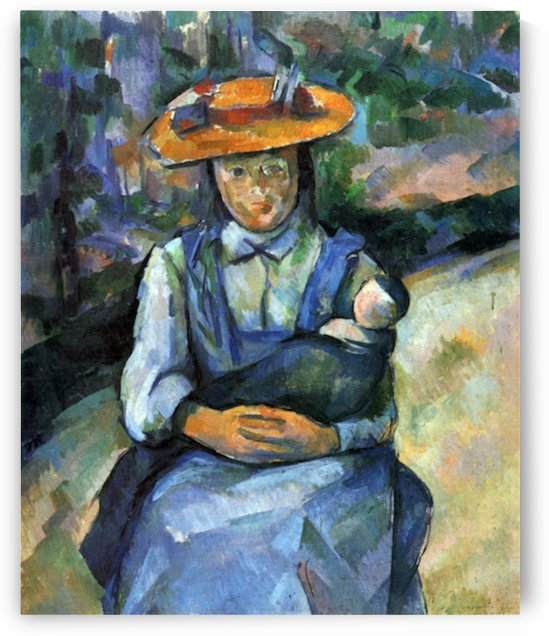 Girl with Doll by Cezanne by Cezanne