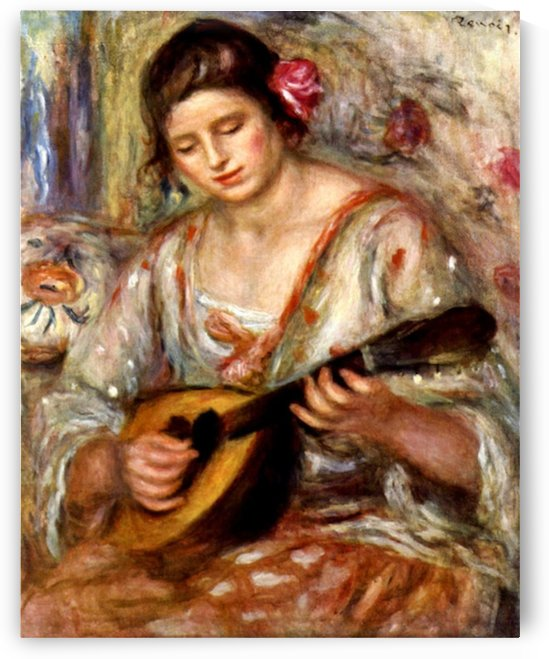 Girl with mandolin by Renoir by Renoir