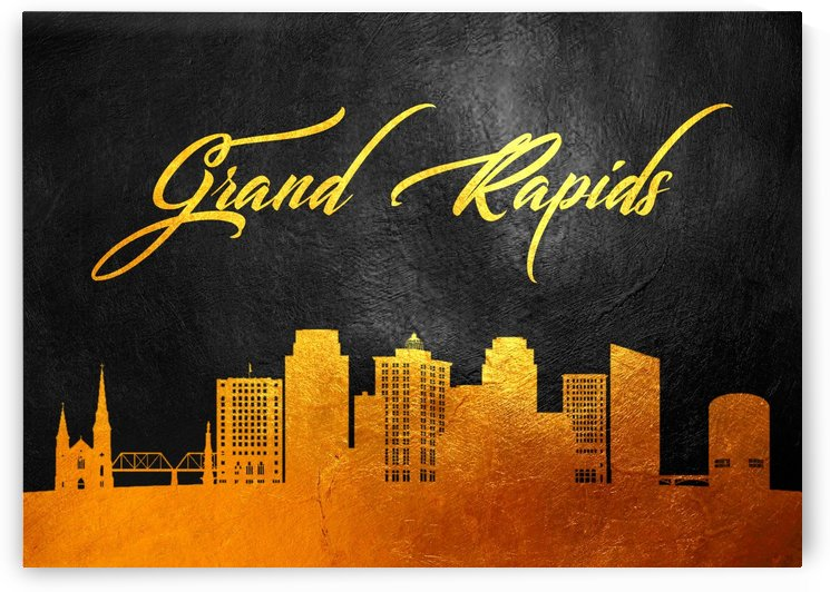 Grand Rapids Michigan Skyline Wall Art by ABConcepts