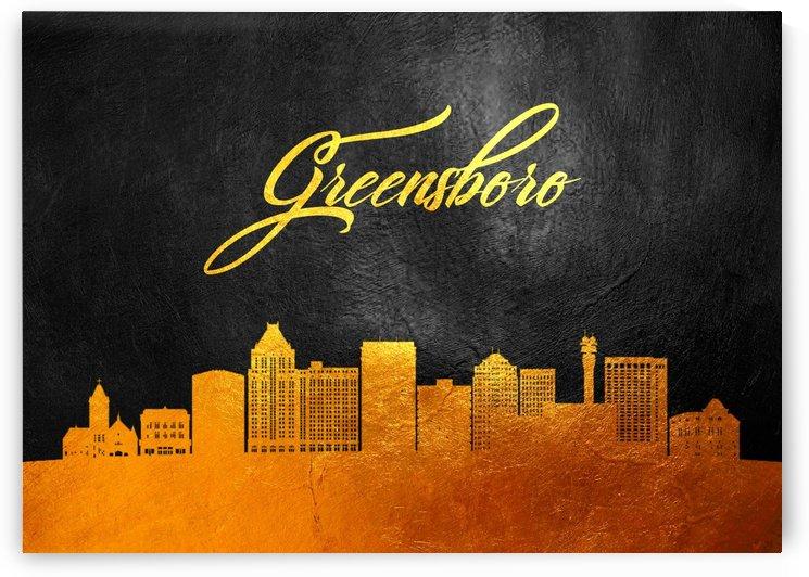 Greensboro North Carolina Skyline Wall Art by ABConcepts