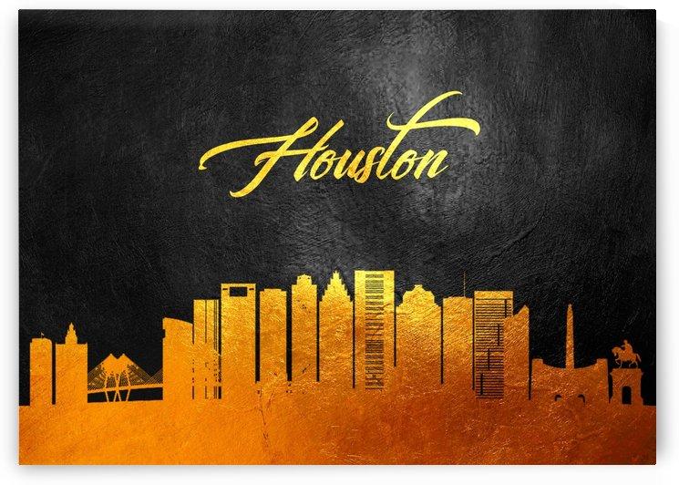 Houston Texas Skyline Wall Art by ABConcepts