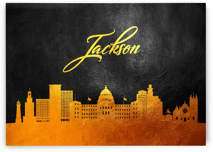 Jackson Florida Skyline Wall Art by ABConcepts
