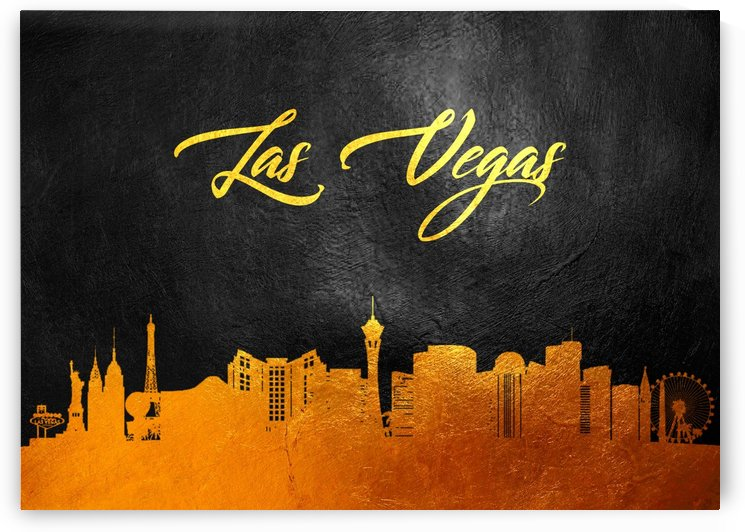 Las Vegas Nevada Skyline Wall Art by ABConcepts
