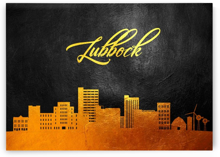 Lubbock Texas Skyline Wall Art by ABConcepts