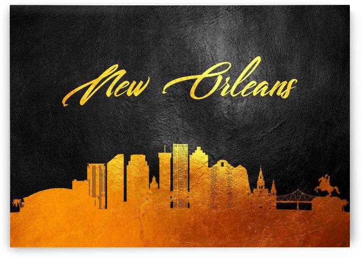 New Orleans Louisiana Skyline Wall Art by ABConcepts