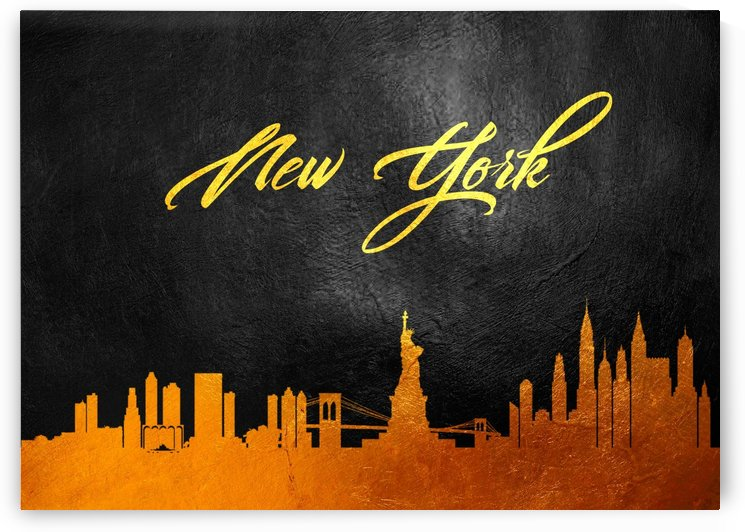 New York New York Skyline Wall Art by ABConcepts