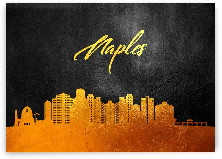 Naples Florida Skyline Wall Art by ABConcepts