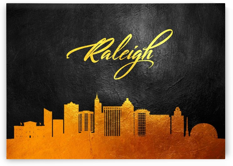 Raleigh North Carolina Skyline Wall Art by ABConcepts