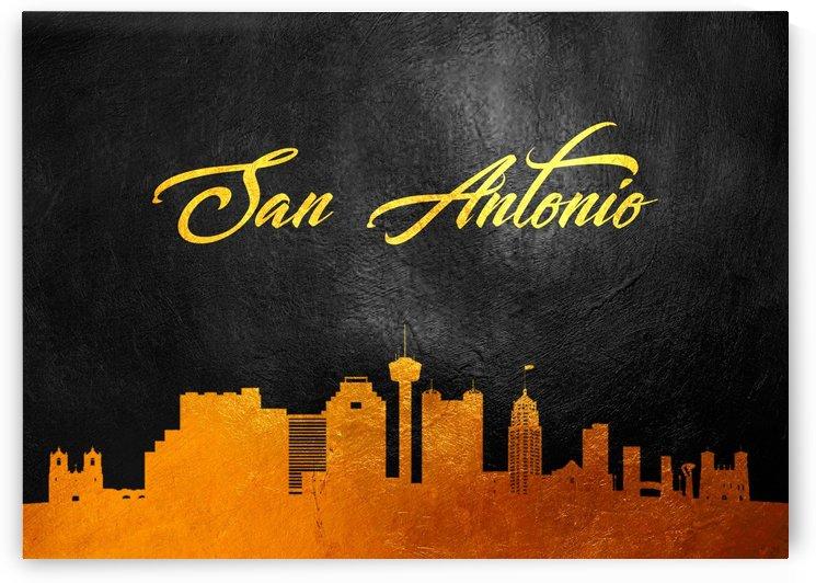 San Antonio Texas Skyline Wall Art by ABConcepts
