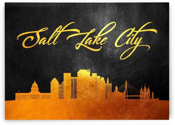 Salt Lake City Utah Skyline Wall Art by ABConcepts