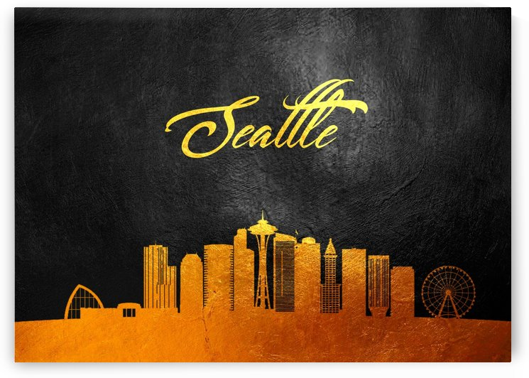 Seattle Washington Skyline Wall Art by ABConcepts