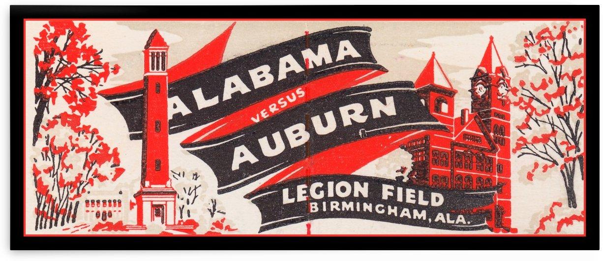 Alabama versus Auburn by Row One Brand
