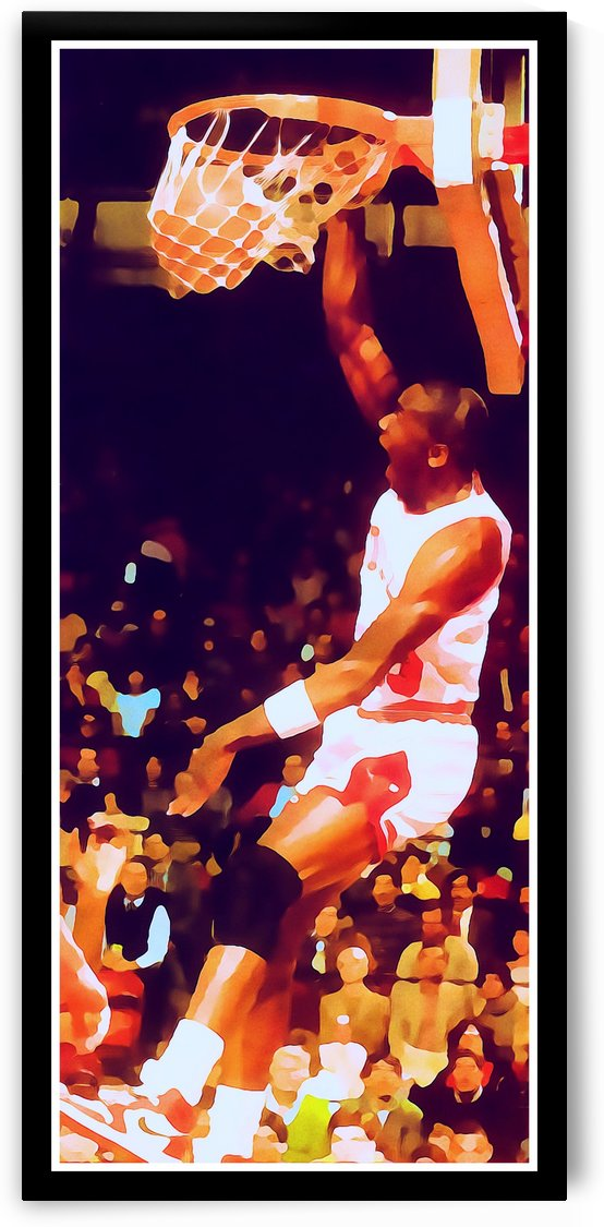 Michael Jordan Digital Watercolor Row 1 by Row One Brand