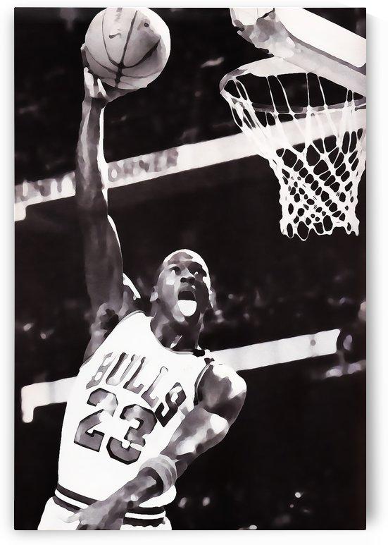 Michael Jordan Black White Digital Painting by Row One Brand