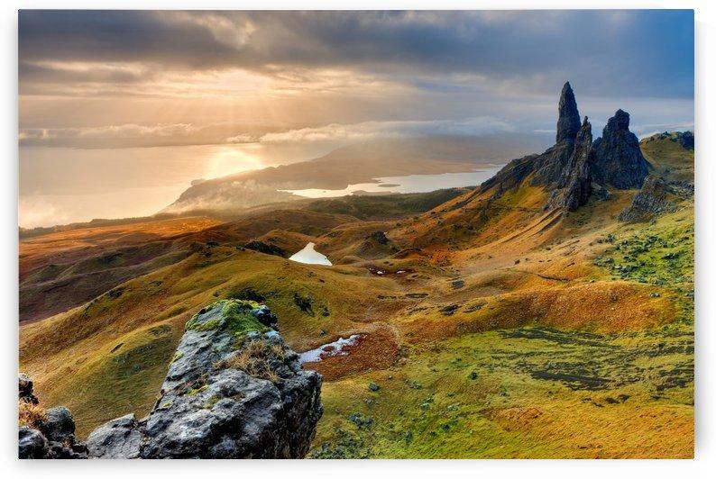 landscape scotland isle of skye by Shamudy