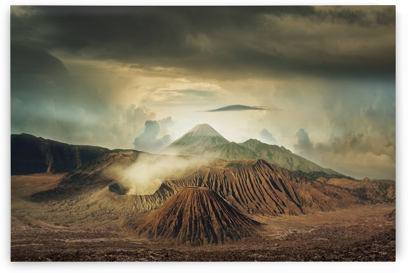 landscape volcanoes clouds sky bromo by Shamudy