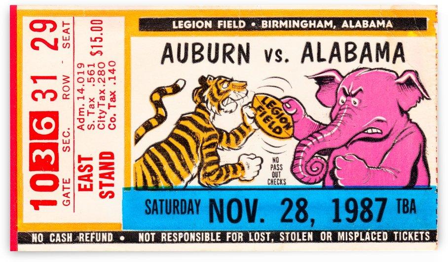 1987 Alabama vs. Auburn  by Row One Brand