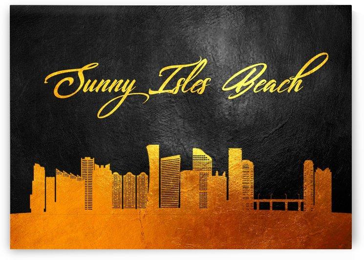 Sunny Isles Beach Florida Skyline Wall Art by ABConcepts