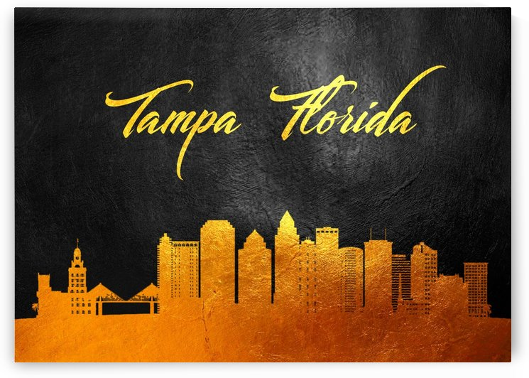 Tampa Florida Skyline Wall Art by ABConcepts