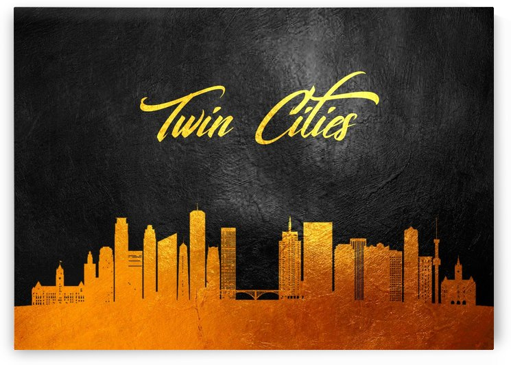 Twin Cities Minnesota Skyline Wall Art by ABConcepts