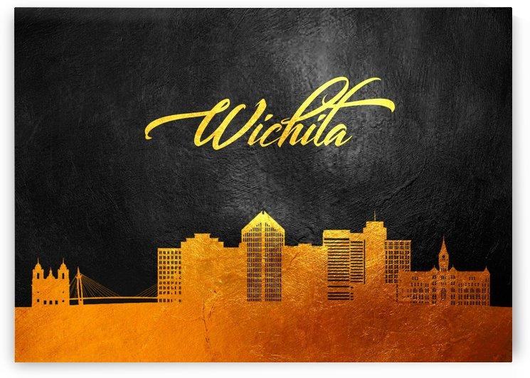Wichita Kansas Skyline Wall Art by ABConcepts