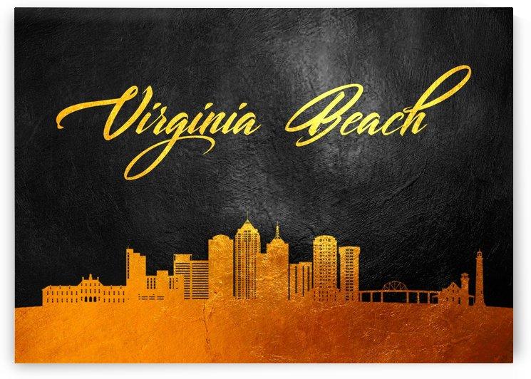 Virginia Beach Virginia Skyline Wall Art by ABConcepts