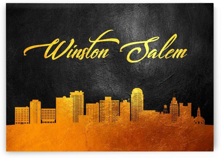 Winston Salem North Carolina Skyline Wall Art by ABConcepts