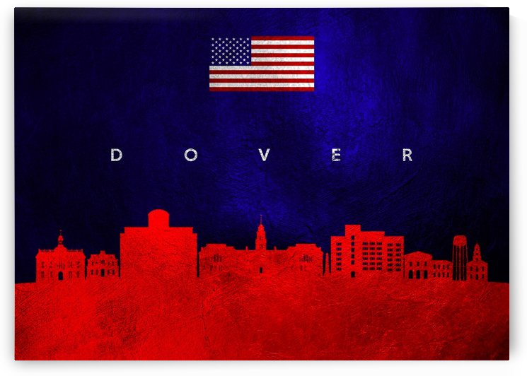 Dover Delaware Skyline Wall Art by ABConcepts