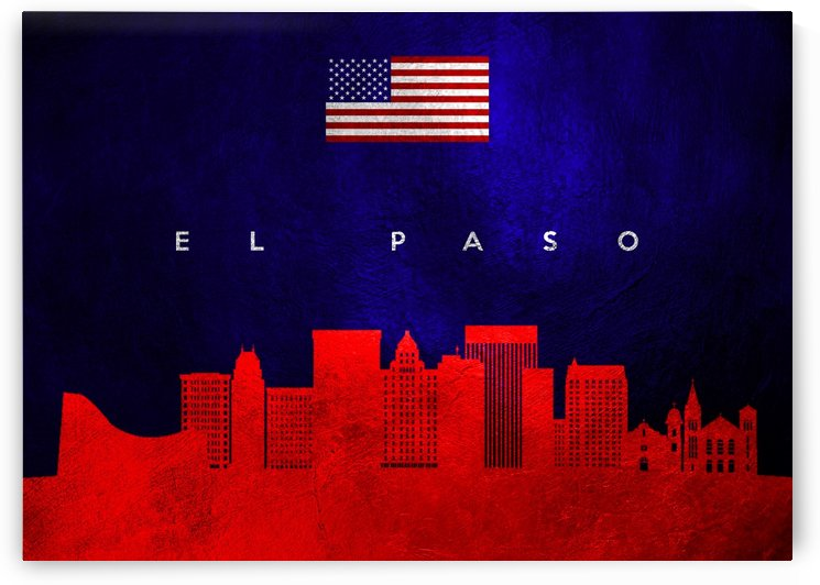 El Paso Texas Skyline Wall Art by ABConcepts