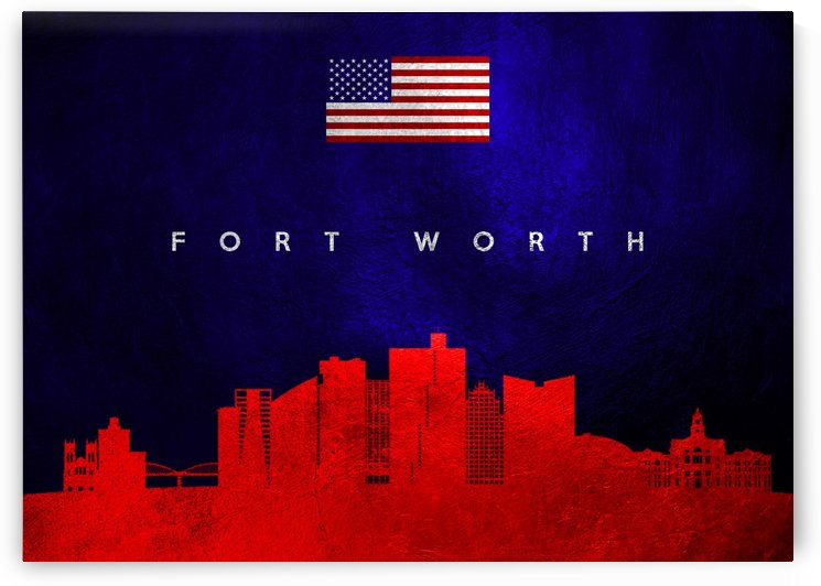 Fort Worth Texas Skyline Wall Art by ABConcepts