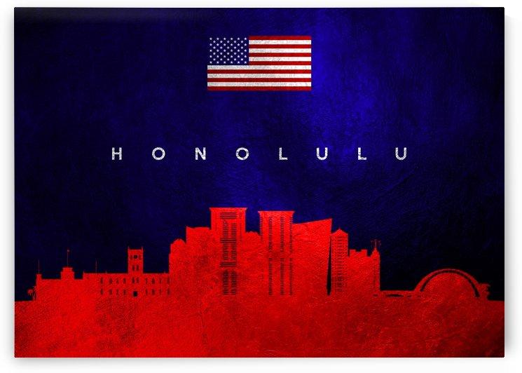 Honolulu Hawaii Skyline Wall Art by ABConcepts