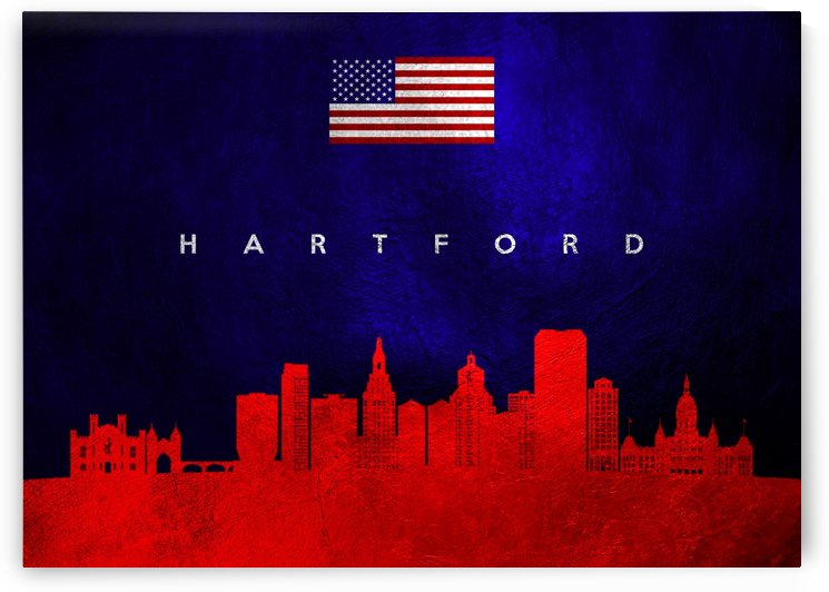 Hartford Connecticut Skyline Wall Art by ABConcepts