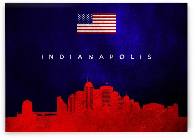 Indianapolis Indiana Skyline Wall Art by ABConcepts