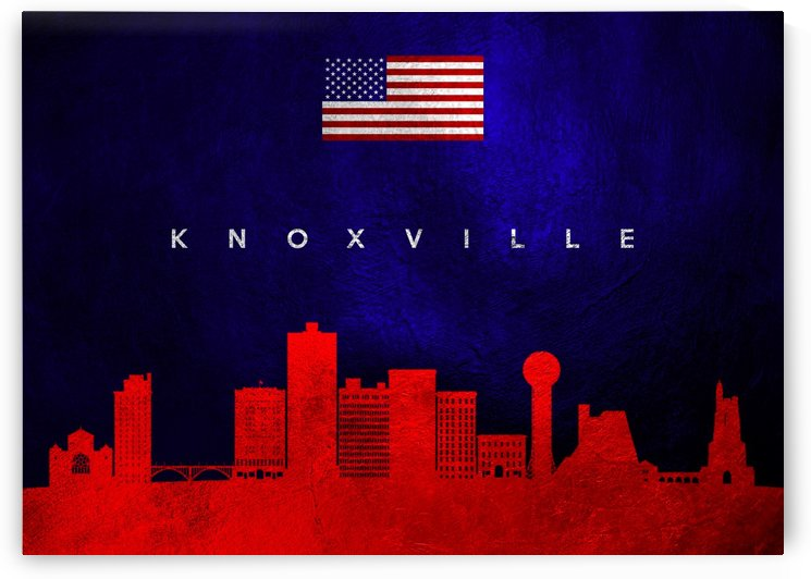 Knoxville Tennessee Skyline Wall Art by ABConcepts