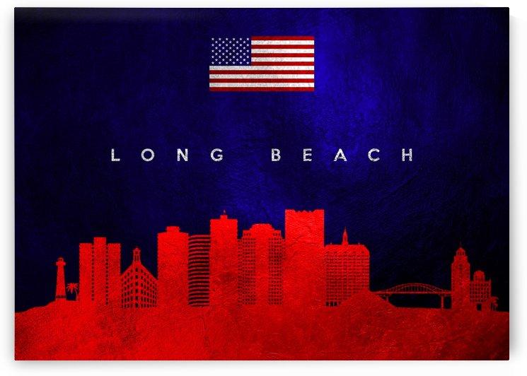 Long Beach California Skyline Wall Art by ABConcepts