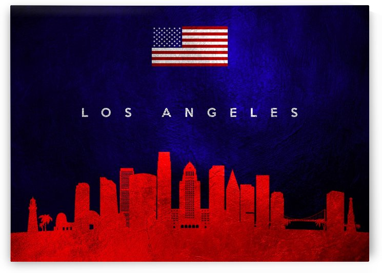 Los Angeles California Skyline Wall Art by ABConcepts