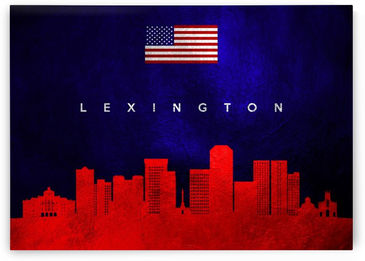 Lexington Kentucky Skyline Wall Art by ABConcepts