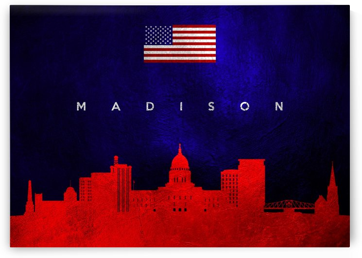 Madison Wisconsin Skyline Wall Art by ABConcepts