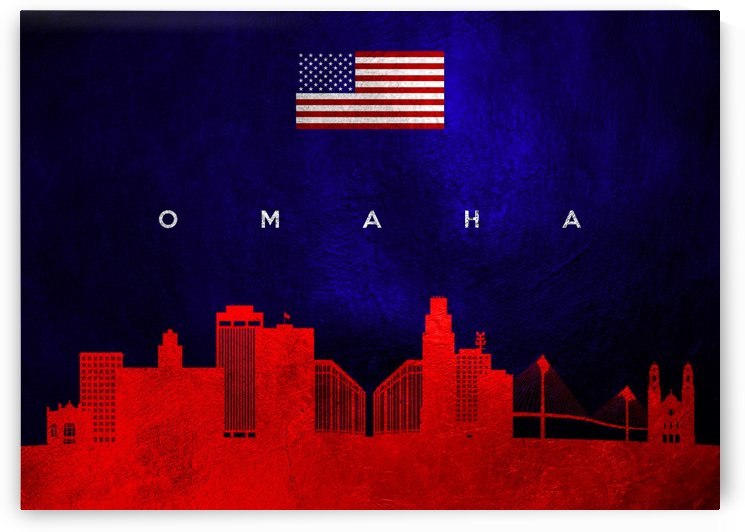 Omaha Nebraska Skyline Wall Art by ABConcepts