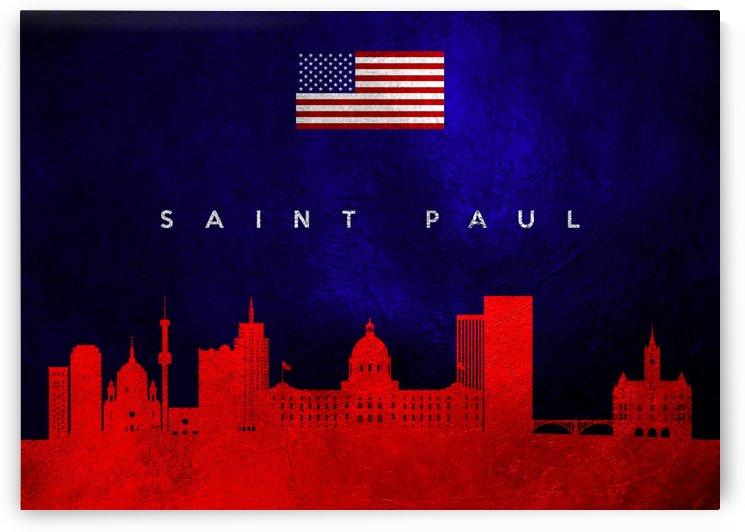 Saint Paul Minnesota Skyline Wall Art by ABConcepts