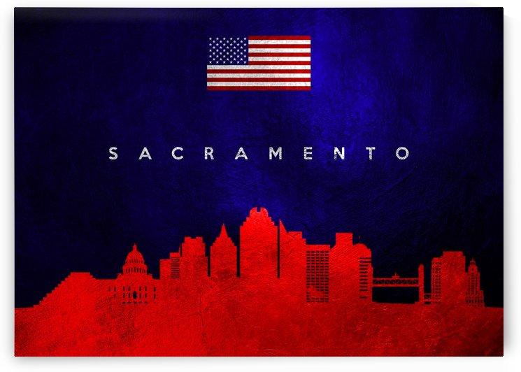 Sacramento California Skyline Wall Art by ABConcepts