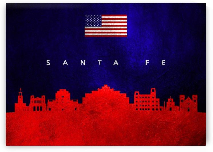 Santa Fe New Mexico Skyline Wall Art by ABConcepts
