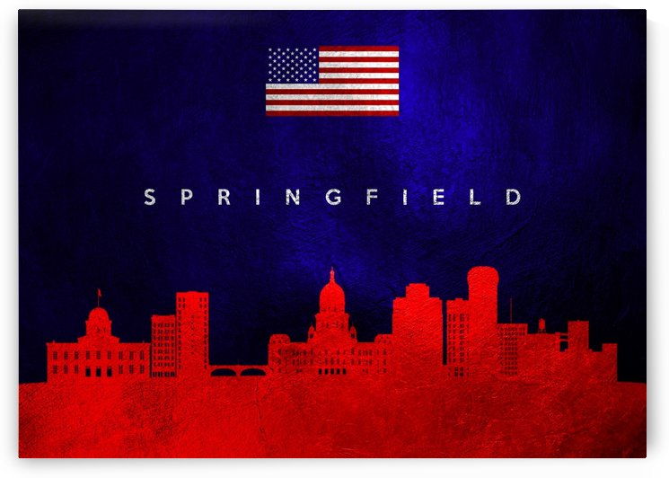 Springfield Massachusettes Skyline Wall Art by ABConcepts