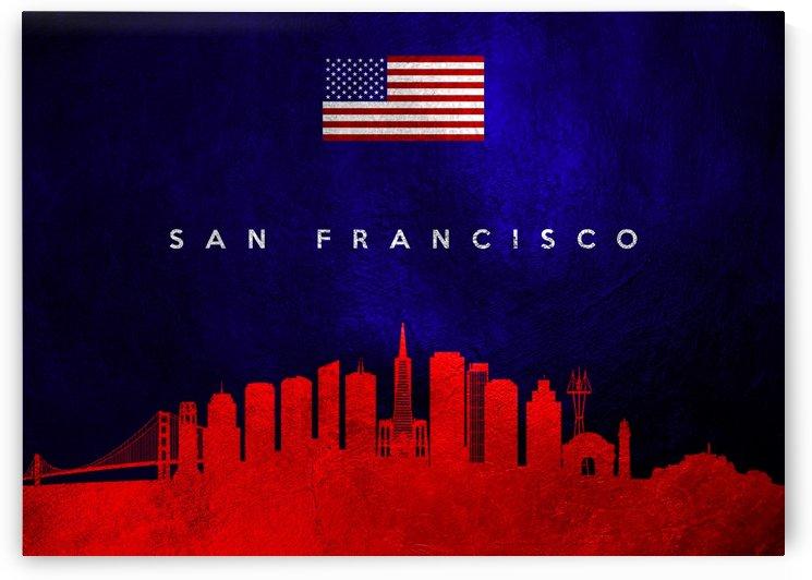 San Francisco  California Skyline Wall Art by ABConcepts
