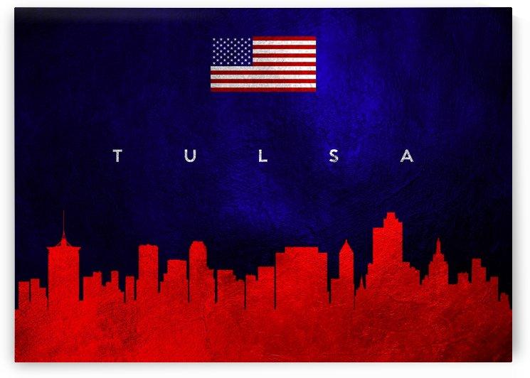 Tulsa Oklahoma Skyline Wall Art by ABConcepts