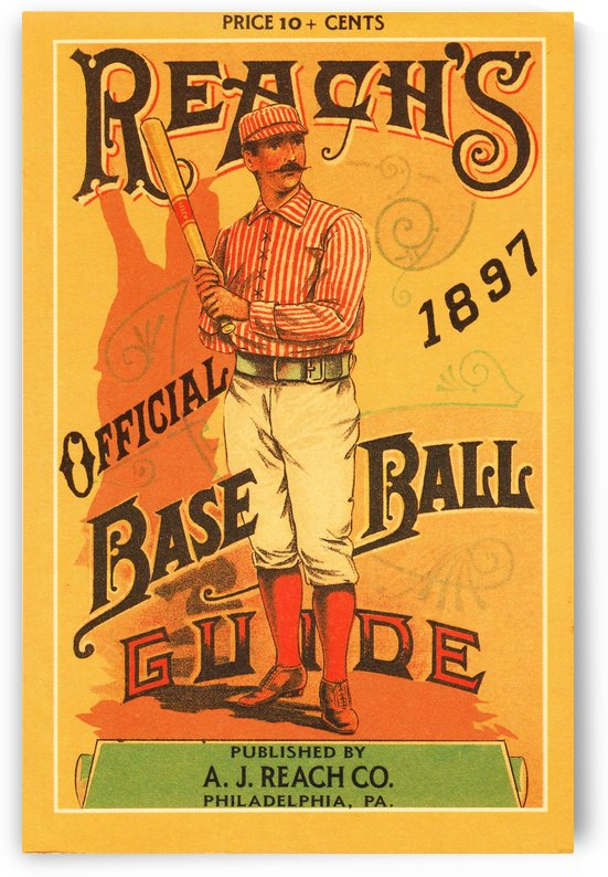 1897 Reachs Baseball Guide Poster by Row One Brand