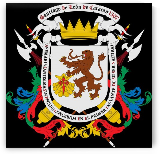 Venezuela Captaincy General Coat of Arms 1777-1821 by Fun With Flags