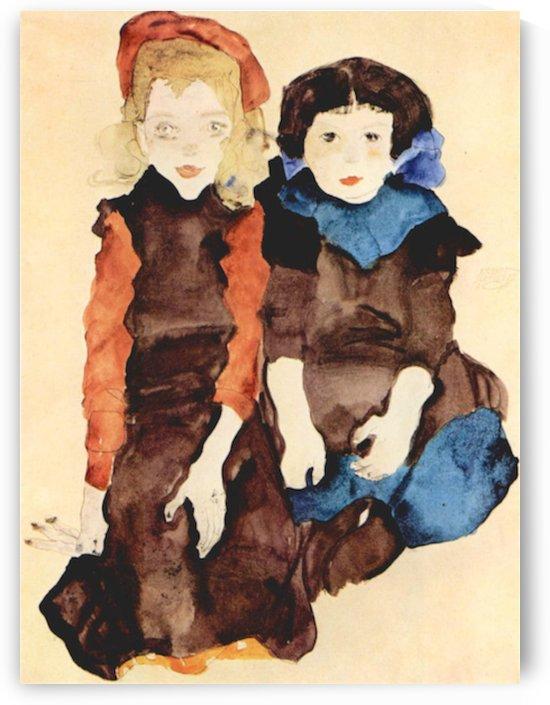 Girls by Schiele by Schiele