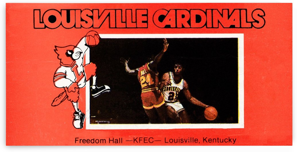 Vintage Louisville Basketball Poster by Row One Brand